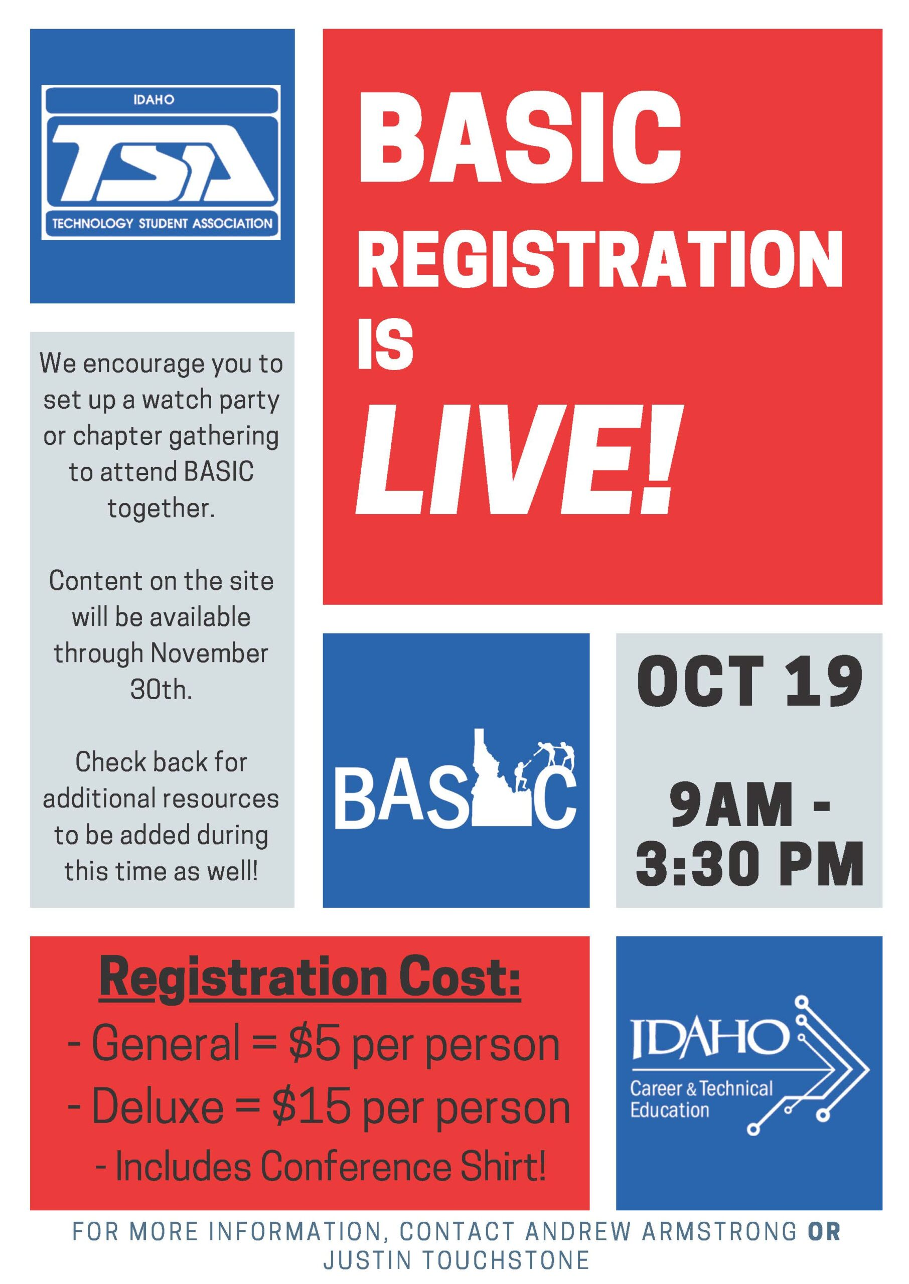 BASIC 2020 Registration Flyer